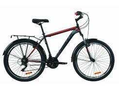 """Велосипед ST 26"""" Formula MAGNUM AM Vbr рама-19"""" черно-красный с серым (м) с багажником зад St, с крылом St 2020 (OPS-FR-26-417)"""