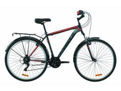 """Велосипед ST 28"""" Formula MAGNUM AM Vbr рама-20,5"""" черно-красный с серым (м) с багажником зад St, с крылом St 2020 (OPS-FR-28-018)"""