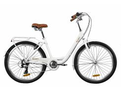 "Велосипед AL 26"" Dorozhnik RUBY рама-17"" белый (м) с багажником зад St, с крылом St 2020 (OPS-D-26-105)"