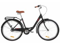 "Велосипед AL 26"" Dorozhnik RUBY планет. рама-17"" черный с багажником зад St, с крылом St 2020 (OPS-D-26-107)"