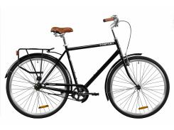 """Велосипед ST 28"""" Dorozhnik COMFORT MALE рама-22"""" черный с багажником зад St, с крылом St 2020 (OPS-D-28-170)"""