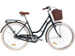 """Велосипед AL 28"""" Dorozhnik CORAL планет. рама-19"""" малахитовый с багажником зад St, с крылом St, с корзиной Pl 2020 (OPS-D-28-174)"""