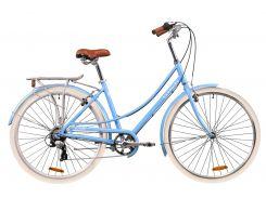 """Велосипед AL 28"""" Dorozhnik SAPPHIRE рама-19"""" альпийский голубой с багажником зад AI, с крылом St 2020 (OPS-D-28-193)"""