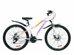 """Велосипед ST 26"""" Formula ELECTRA AM DD рама-15.5"""" бело-фиолетовый с оранжевым с крылом Pl 2020 (OPS-FR-26-402)"""