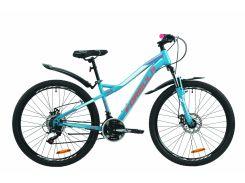 """Велосипед ST 26"""" Formula ELECTRA AM DD рама-15.5"""" бирюзовый с крылом Pl 2020 (OPS-FR-26-401)"""