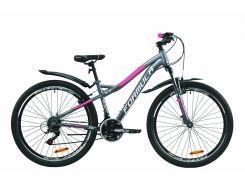 """Велосипед ST 26"""" Formula ELECTRA AM Vbr рама-15.5"""" антрацитово-белый с розовым (м) с крылом Pl 2020 (OPS-FR-26-407)"""