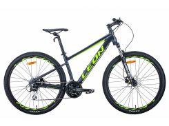 "Велосипед AL 27.5"" Leon XC-80 AM Hydraulic lock out HDD рама-16"" антрацитово-желтый с черным (м) 2020 (OPS-LN-27.5-060)"