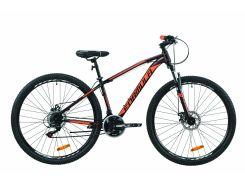"""Велосипед ST 29"""" Formula DRAGONFLY AM DD рама-16"""" черно-красный с оранжевым (м) 2020 (OPS-FR-29-068)"""
