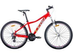 """Велосипед 26"""" Leon HT-LADY 2020 (красный с салатовым и бирюзовым)"""