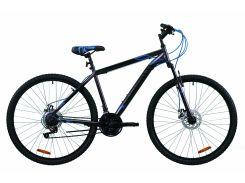 """Велосипед 29"""" Discovery RIDER DD 2020 (серо-черный с синим (м))"""