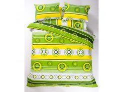 Постельное белье Lotus Ranforce - Sweet зеленый евро (7048)