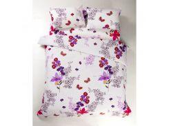 Постельное белье Lotus Ranforce - Helen фиолетовый евро (7538)