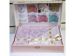 Постельное белье Deco Bianca сатин жаккард jk16-01 lila лиловое евро (2000008474504)