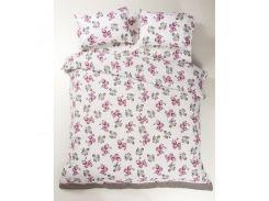 Постельное белье Lotus Ranforce - Patrice розовый двуспальное (7534)