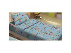 Детское постельное белье для младенцев Lotus ранфорс - DoGi голубой (2000008479486)
