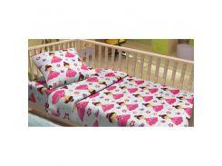 Детское постельное белье для младенцев Lotus фланель - LiLu (7627)
