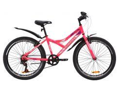 """Велосипед ST 24"""" Discovery FLINT Vbr рама-14"""" красно-черный с крылом Pl 2020 (OPS-DIS-24-181)"""