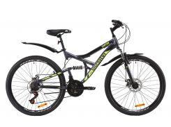 """Велосипед ST 26"""" Discovery CANYON AM2 DD рама-17,5"""" черно-красный с серым с крылом Pl 2020 (OPS-DIS-26-236)"""