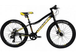 """Велосипед WINNER 24"""" JUNIOR+ 12,5"""" черно-желтый (19-146) 2019"""