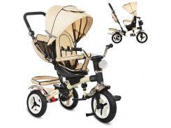 Детский трехколесный велосипед M 3199-7HA бежевый малиновый
