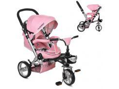 Трехколесный детский велосипед M AL3645-10 нежно-розовый