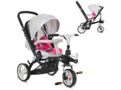 Трехколесный детский велосипед M AL3645-9 серо-розовый