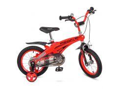 Велосипед детский PROF1 14д. LMG14123 красный