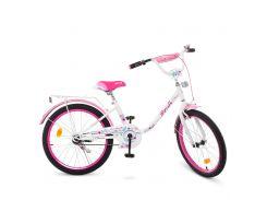 Детский велосипед PROF1 20д. Y2085 Flower бело-розовый