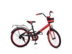 Детский велосипед PROF1 20д. W20115-5 красно-черный