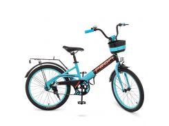 Детский велосипед PROF1 20д. W20115-8 черно-бирюзовый