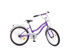 Детский велосипед PROF1 20д. Y2093 сиренево-серый