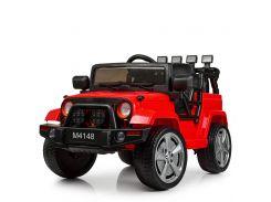 Детский электромобиль Джип Bambi M 4148 EBLR-3 Jeep, красный