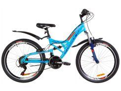 """Велосипед 24"""" Formula ATLAS AM2 14G Vbr рама-14"""" St синий с оранжевым с крылом Pl 2019 (OPS-FR-24-139)"""