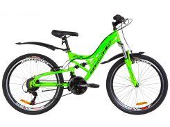 """Велосипед 24"""" Formula ATLAS AM2 14G Vbr рама-14"""" St салатный с крылом Pl 2019 (OPS-FR-24-138)"""