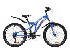 """Велосипед ST 24"""" Discovery ROCKET AM2 Vbr рама-15"""" сине-оранжевый с белым с крылом Pl 2020 (OPS-DIS-24-187)"""