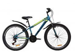 """Велосипед ST 26"""" Discovery TREK AM Vbr рама-13"""" бело-черный с синим с крылом Pl 2020 (OPS-DIS-26-266)"""