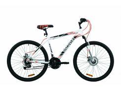 """Велосипед 26"""" Discovery RIDER DD 2020 (бело-красный с серым)"""