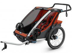 Детская коляска Thule Chariot Cross 2 (Roarange-Dark Shadow) (TH 10202004)
