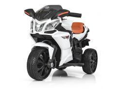 Детский электромотоцикл Bambi M 3912EL-1 White (M 3912EL-1)