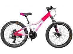 """Велосипед Titan Vertu 24""""12"""" Розовый-Чёрный-Белый (24TJAL19-252)"""