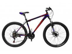 """Велосипед Cross Leader 27,5""""19"""" Чёрный-Голубой-Красный (27CJPr19-60)"""