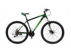 "Велосипед Cross Leader 29""21""Чёрный-Чёрно зелёный-Зелёный (29CJPr19-67)"