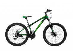 """Велосипед Cross Leader 26""""15"""" Чёрный-Черно зеленый-Зелёный (26CJPr19-47)"""