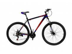"""Велосипед Cross Leader 29""""21""""Чёрный-Голубой-Красный (29CJPr19-68)"""