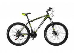 """Велосипед Cross Leader 26""""15"""" Чёрный-Неоновый жёлтый-Белый (26CJPr19-49)"""