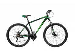 """Велосипед Cross Leader 29""""19"""" Чёрный-Тёмно Зелёный-Зелёный (29CJPr19-63)"""