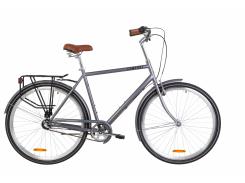 "Велосипед ST 28"" Dorozhnik COMFORT MALE планет. рама-22"" серый с багажником зад St, с крылом St 2020 (OPS-D-28-172)"
