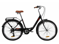 "Велосипед AL 26"" Dorozhnik RUBY рама-17"" черный с багажником зад St, с крылом St 2020 (OPS-D-26-103)"