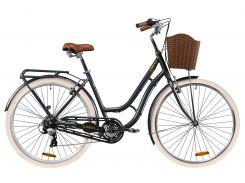 """Велосипед AL 28"""" Dorozhnik CORAL рама-19"""" серый с багажником зад St, с крылом St, с корзиной Pl 2020 (OPS-D-28-181)"""
