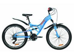 """Велосипед ST 24"""" Formula ATLAS AM2 Vbr рама-14"""" синий с оранжевым с крылом Pl 2020 (OPS-FR-24-197)"""